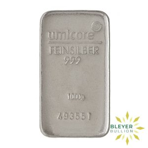 Bleyers Bar 1kg Umicore Cast Silver Bar