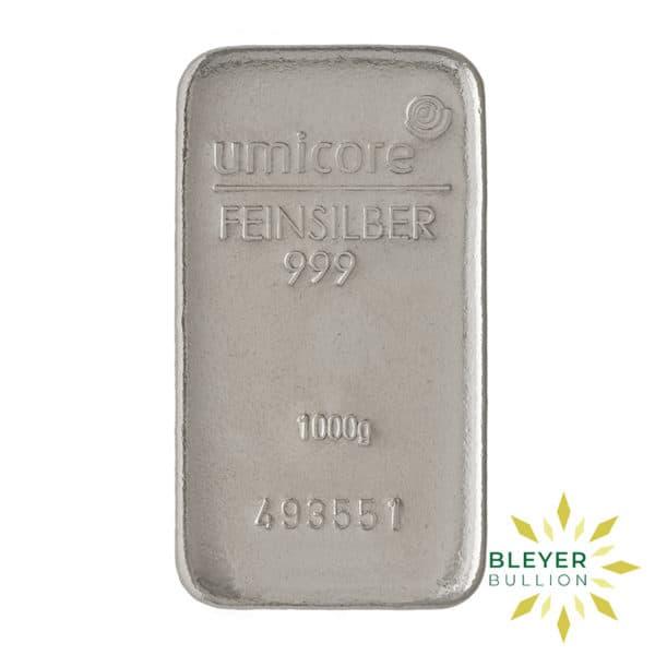 Bleyers Bar 1kg Umicore Cast Silver Bar