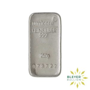 Bleyers Bar 250g Umicore Cast Silver Bar