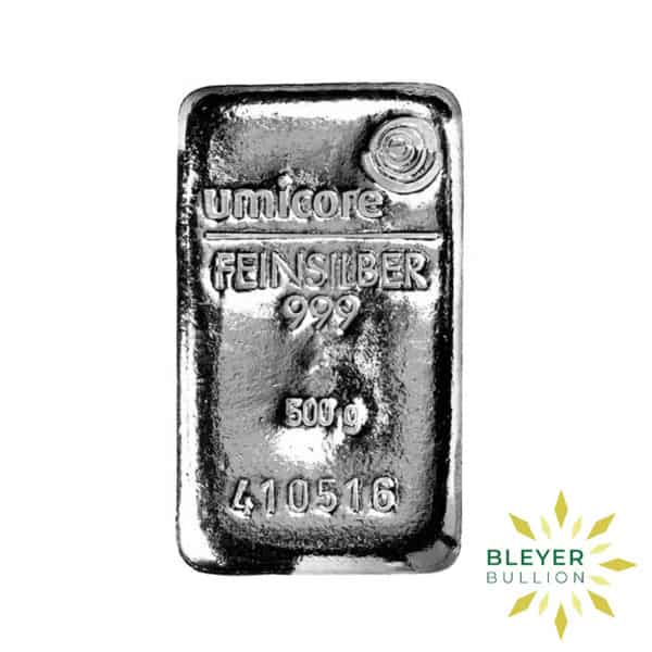 Bleyers Bar 500g Umicore Cast Silver Bar 2