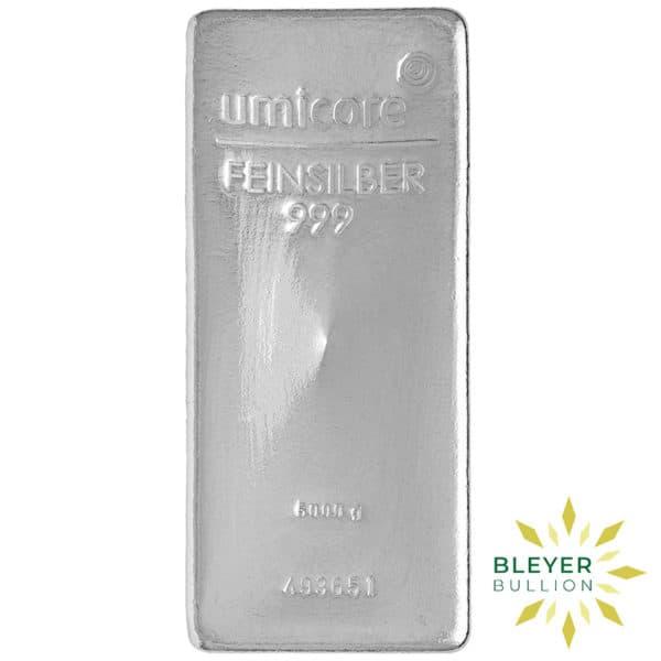 Bleyers Bar 5KG Umicore Cast Silver Bar 1