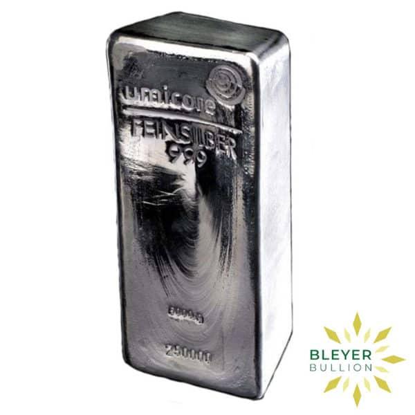 Bleyers Bar 5KG Umicore Cast Silver Bar 2