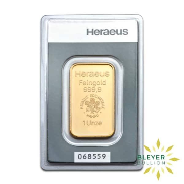 Bleyers Bars 1oz Heraeus Minted Gold Bar 2