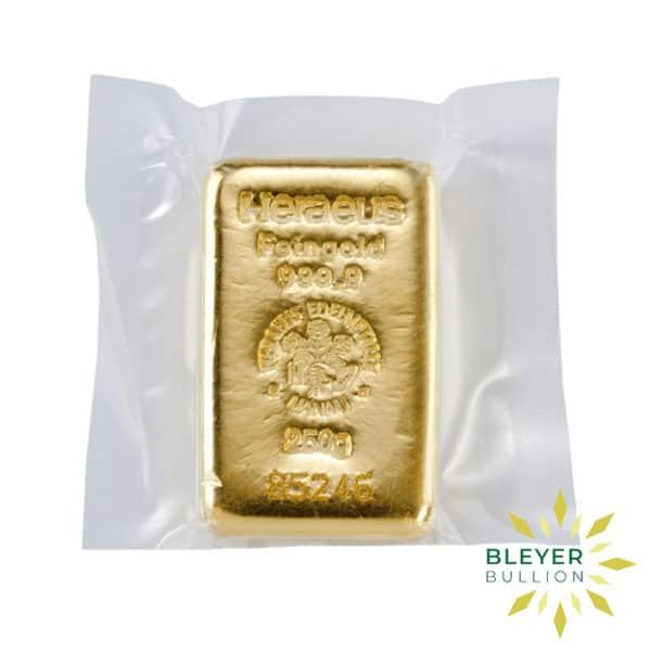Bleyers Bars 250g Heraeus Cast Gold Bar 2