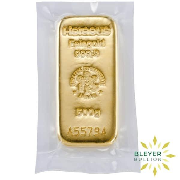 Bleyers Bars 500g Heraeus Cast Gold Bar 2