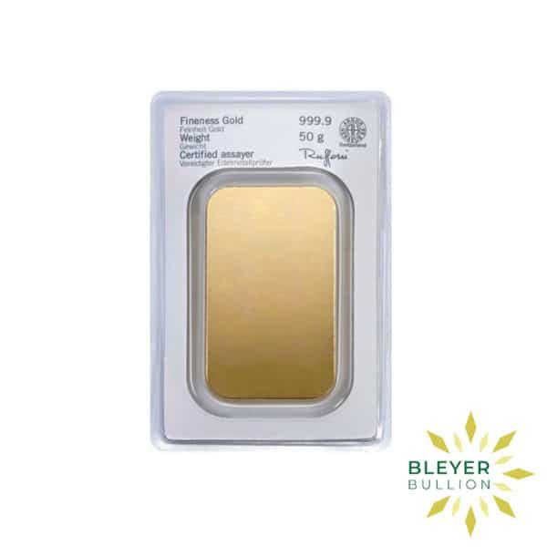 Bleyers Bars 50g Heraeus Minted Gold Bar 3
