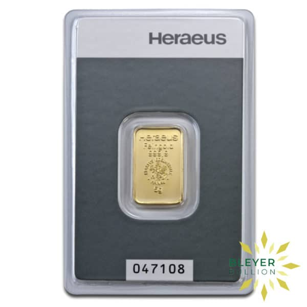 Bleyers Bars 5g Heraeus Minted Gold Bar 2