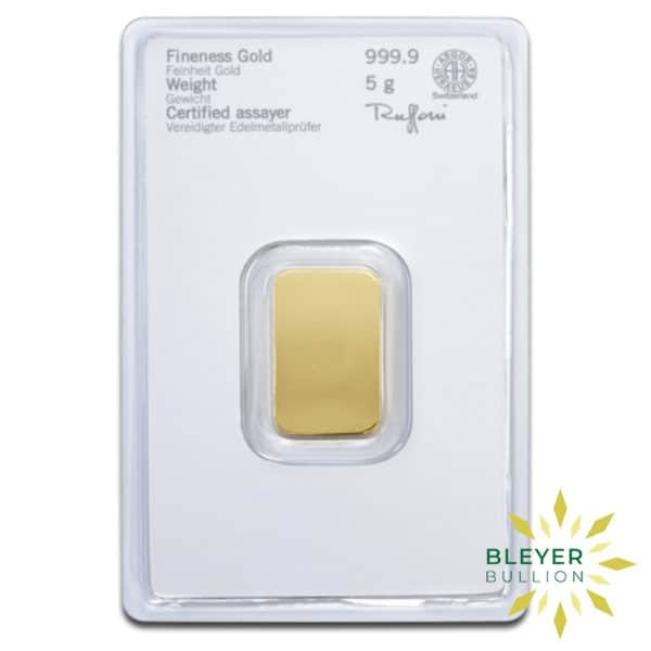 Bleyers Bars 5g Heraeus Minted Gold Bar 4