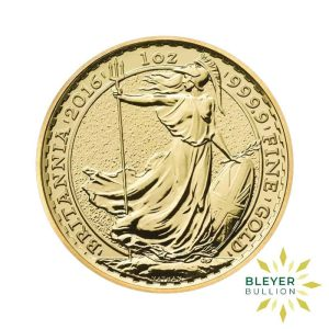 Bleyers Coins 2016 1oz Gold UK Britannia Coin 1