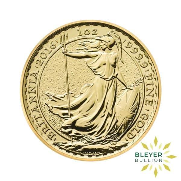 Bleyers Coins 2016 1oz Gold UK Britannia Coin 1