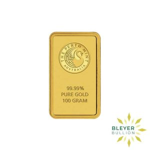 Bleyers Bars 100g Perth Mint Gold Bar 1