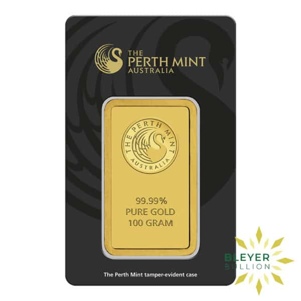 Bleyers Bars 100g Perth Mint Gold Bar 2