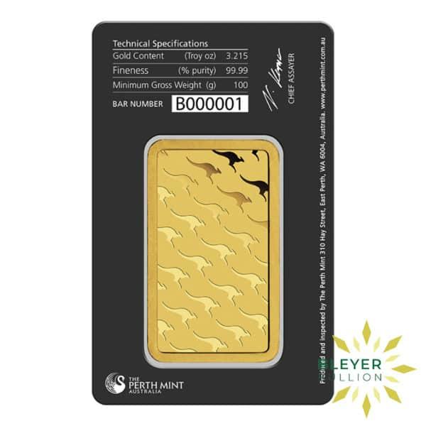 Bleyers Bars 100g Perth Mint Gold Bar 3