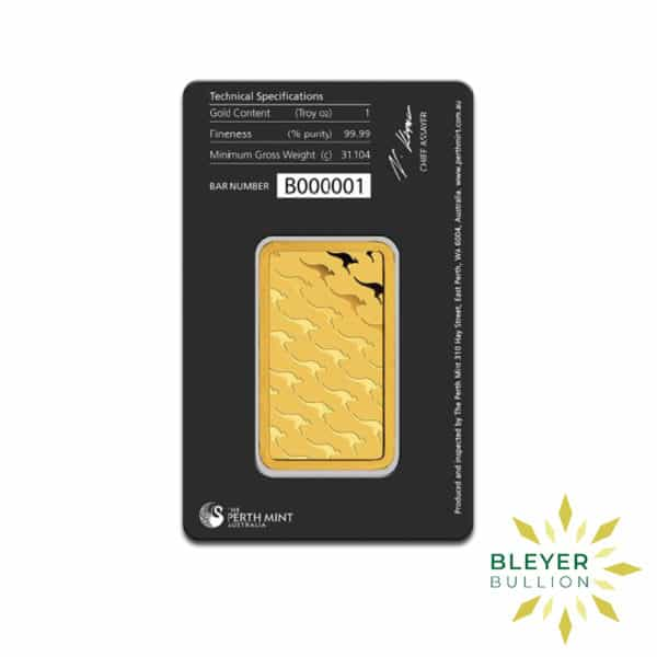 Bleyers Bars 1oz Perth Mint Gold Bar 3