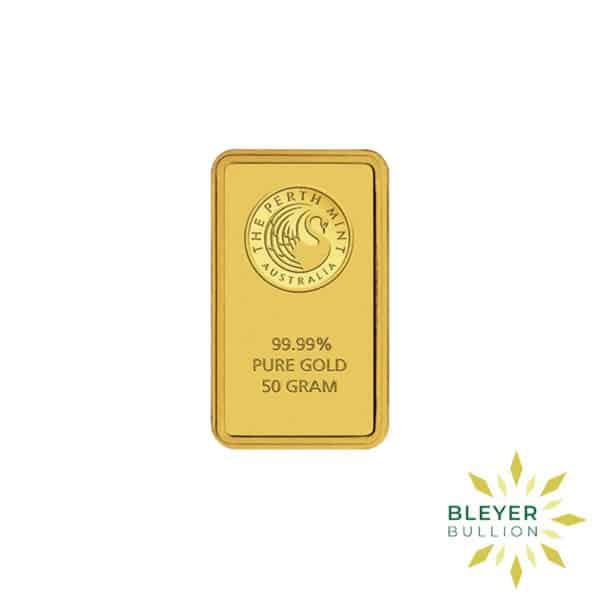 Bleyers Bars 50g Perth Mint Gold Bar 1