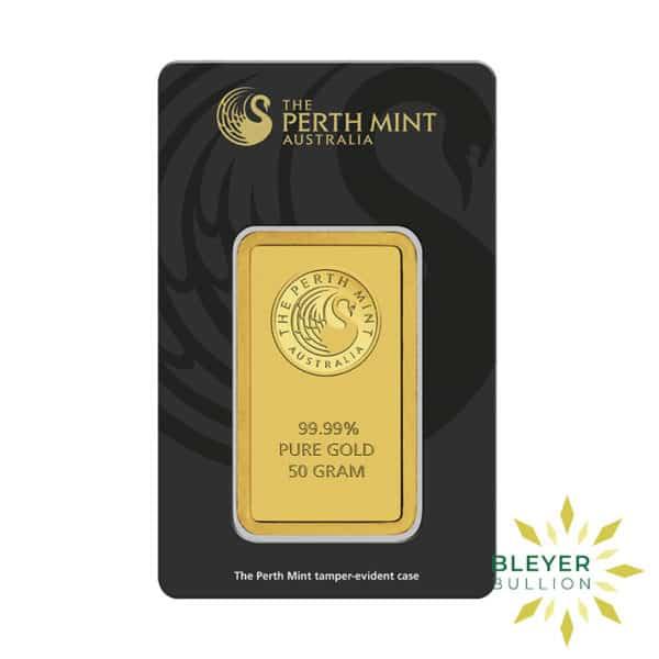 Bleyers Bars 50g Perth Mint Gold Bar 2