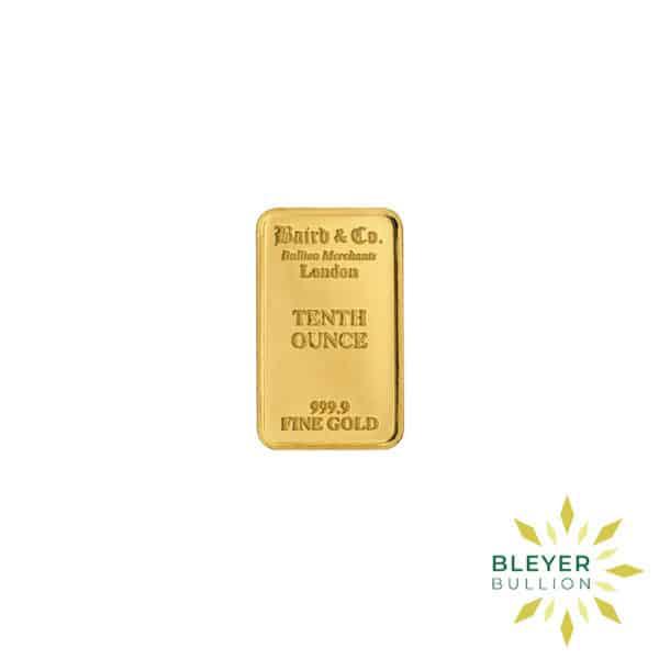 Bleyers Bar 1.10oz Baird Co Minted Gold Bar