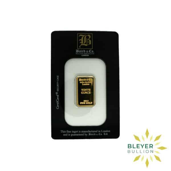 Bleyers Bar 1.10oz Baird Co Minted Gold Bar4