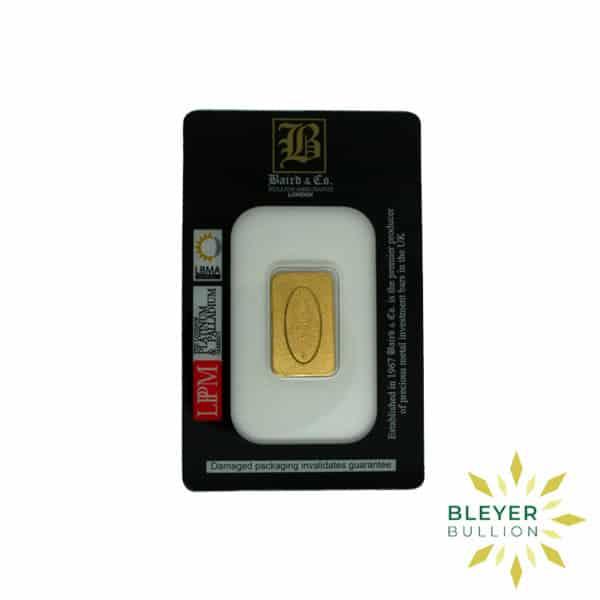 Bleyers Bar 1.10oz Baird Co Minted Gold Bar5