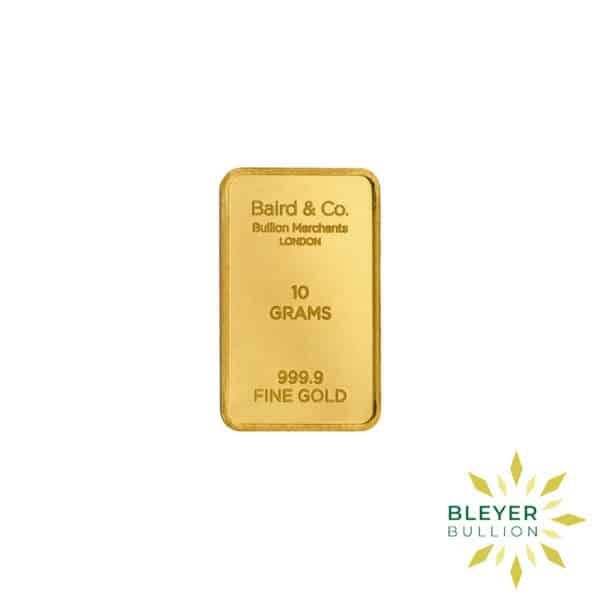Bleyers Bar 10g Baird Co Minted Gold Bar1