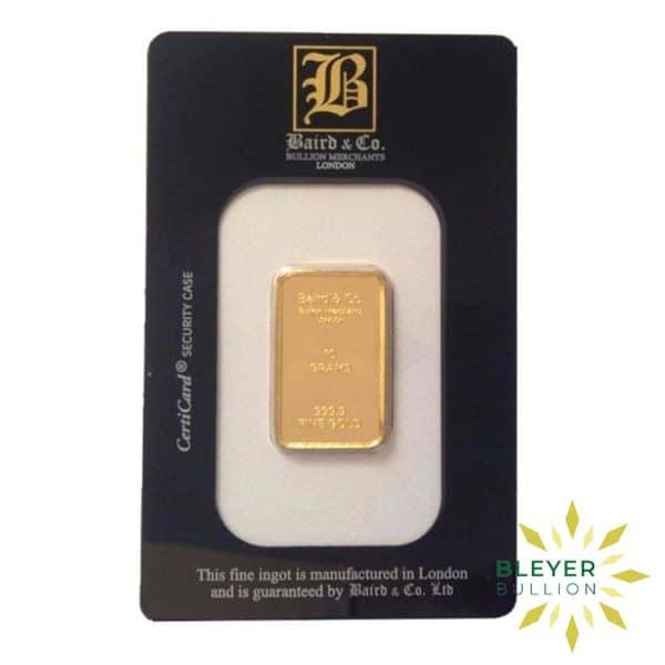Bleyers Bar 10g Baird Co Minted Gold Bar2