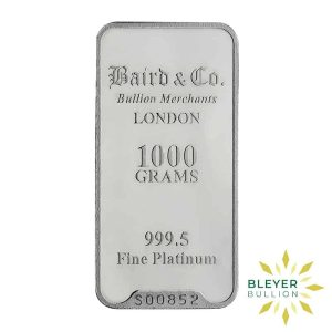 Bleyers Bar 1KG Baird Co Minted Platinum Bar