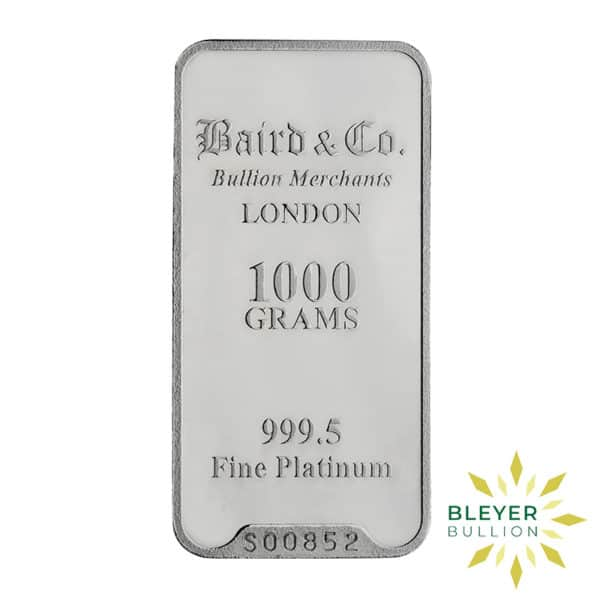 Bleyers Bar 1KG Baird Co Minted Platinum Bar