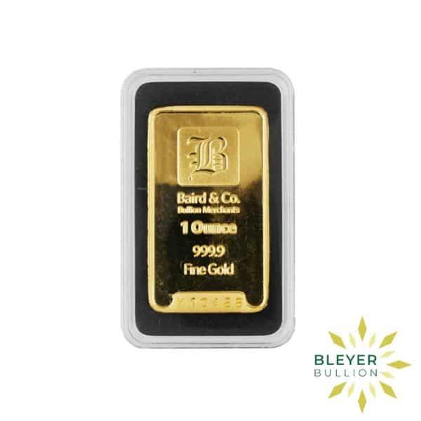 Bleyers Bar 1oz Baird Co Minted Gold Bar Front2