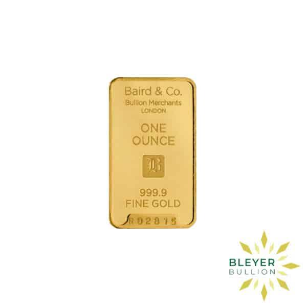 Bleyers Bar 1oz Baird Co Minted Gold Bar5