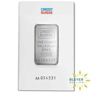 Bleyers Bar 1oz Palladium Credit Suisse