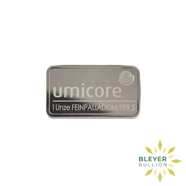 Bleyers Bar 1oz Palladium Umicore
