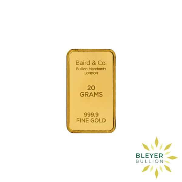 Bleyers Bar 20g Baird Co Minted Gold Bar3