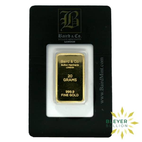 Bleyers Bar 20g Baird Co Minted Gold Bar8