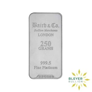 Bleyers Bar 250g Baird Co Minted Platinum Bar