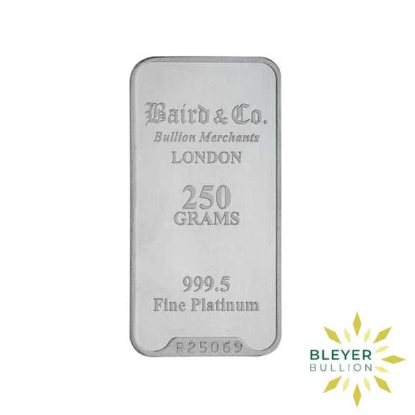 Bleyers Bar 250g Baird Co Minted Platinum Bar