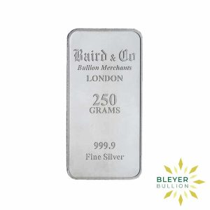 Bleyers Bar 250g Baird Co Minted Silver Bar