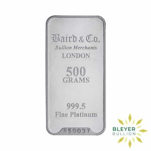 Bleyers Bar 500g Baird Co Minted Platinum Bar