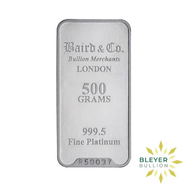 Bleyers Bar 500g Baird Co Minted Platinum Bar