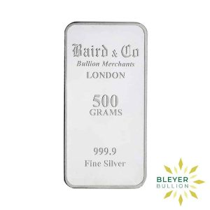 Bleyers Bar 500g Baird Co Minted Silver Bar 1