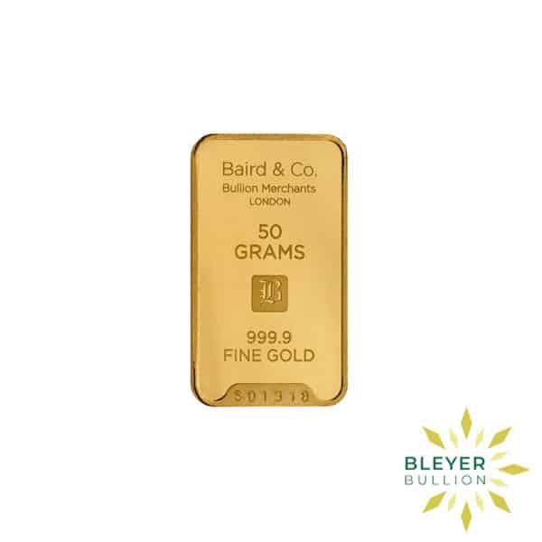 Bleyers Bar 50g Baird Co Minted Gold Bar3