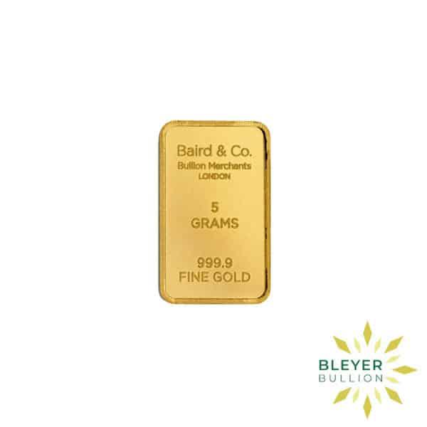 Bleyers Bar 5g Baird Co Minted Gold Bar