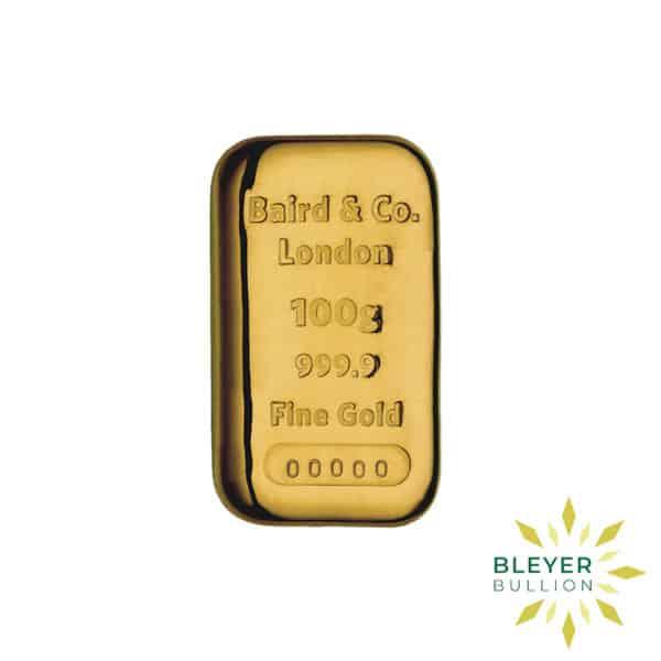 Bleyers Bar Baird Co Cast Gold Bar 100g 1