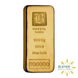 Bleyers Bar Baird Co Cast Gold Bar 1kg