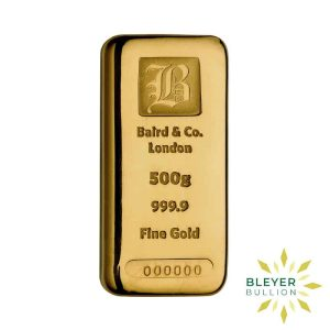 Bleyers Bar Baird Co Cast Gold Bar 500g 1