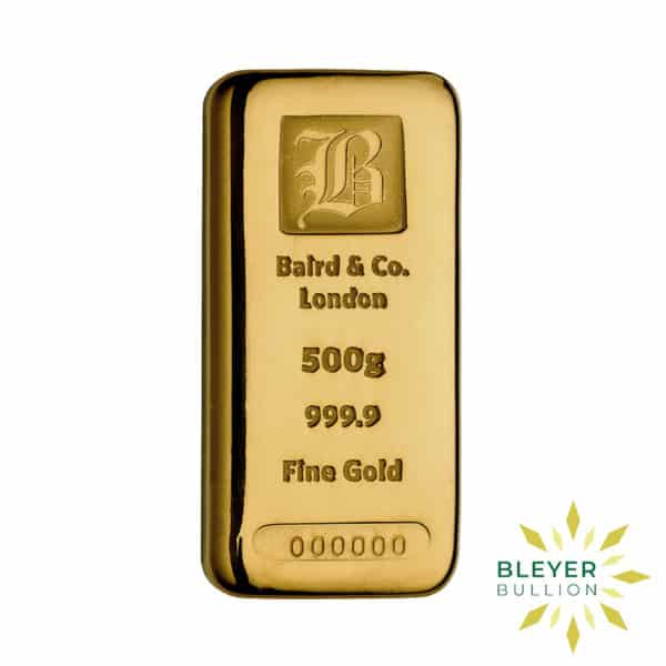 Bleyers Bar Baird Co Cast Gold Bar 500g 1