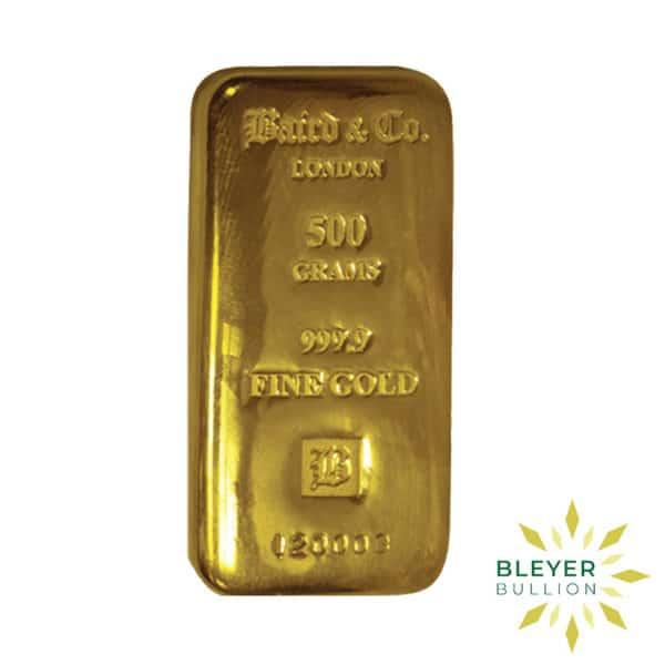 Bleyers Bar Baird Co Cast Gold Bar 500g 2