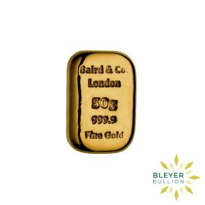 Bleyers Bar Baird Co Cast Gold Bar 50g 1