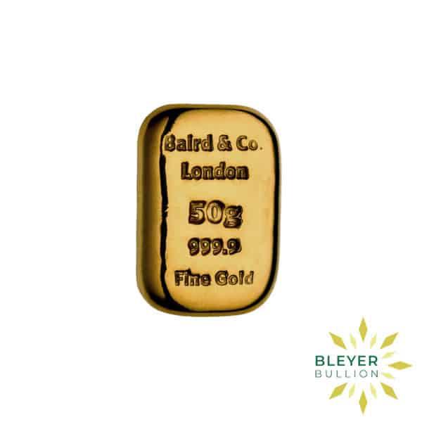 Bleyers Bar Baird Co Cast Gold Bar 50g 1