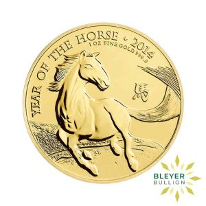 Bleyers Coin Cutouts 1oz Gold UK Lunar Collection Horse Front