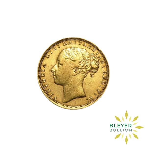 Bleyers Coin Cutouts Gold UK Sovereign Coins UK Gold Sovereign – Queen Victoria – Young Head BACK